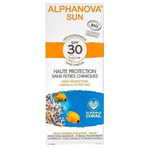 Alphanova Opalovací krém na obličej SPF 30 50 g