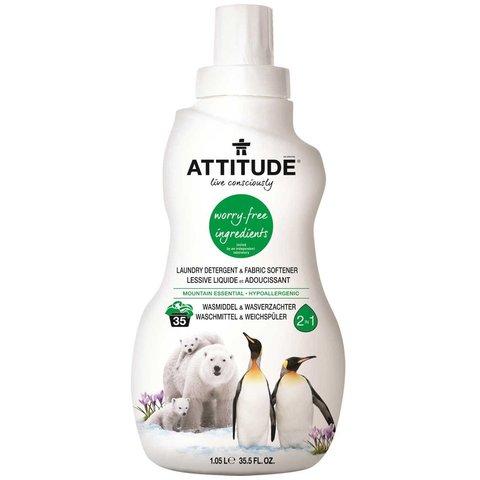Attitude Prací gel a aviváž (2 v 1) Mountain Essentials 1050 ml (35 dávek)