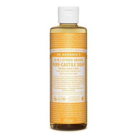 Dr. Bronner's Tekuté universální mýdlo ALL-ONE! Citrus-Orange 240 ml