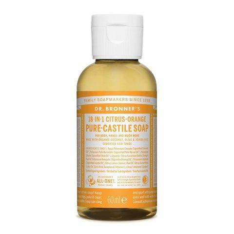 Dr. Bronner's Tekuté universální mýdlo ALL-ONE! Citrus-Orange 60 ml