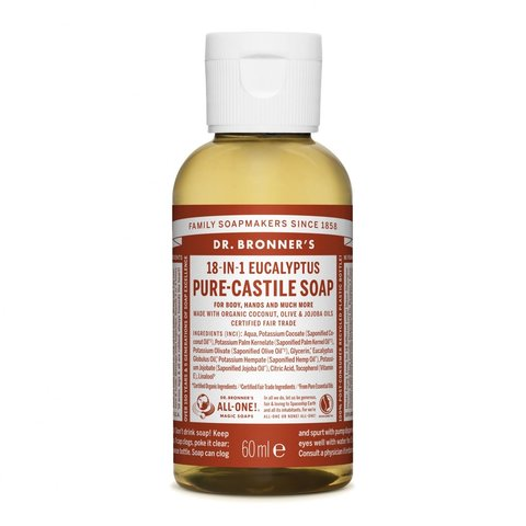 Dr. Bronner's Tekuté universální mýdlo ALL-ONE! Eukalyptus 60 ml