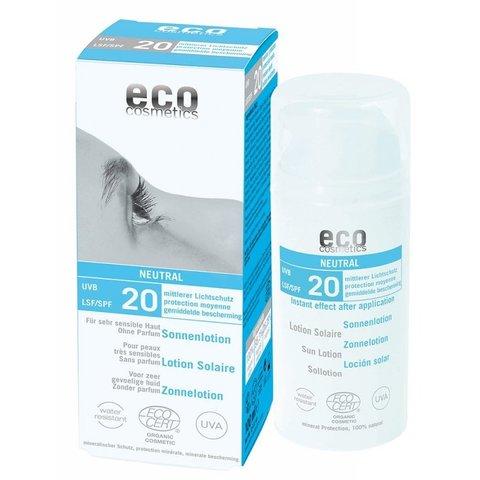 Eco cosmetics BIO Opalovací krém Neutral bez parfemace SPF 20100 ml