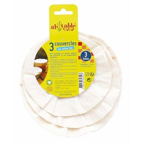Ecodis Sada 3 víček z bio bavlny