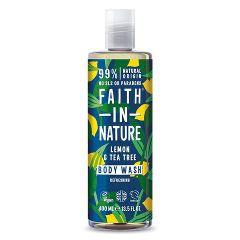 Faith in Nature sprchový gel Citrón/Tea Tree 400 ml