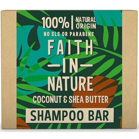 Faith in Nature tuhý šampon kokos a bambucké máslo 85 g