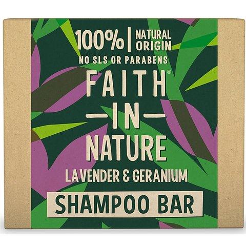 Faith in Nature tuhý šampon levandule a pelargonie 85 g