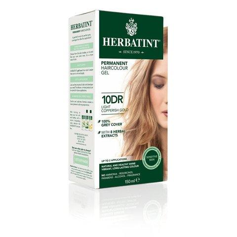 Herbatint Permanentní barva na vlasy světle měděná zlatá 10DR