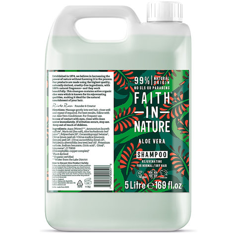 Kanystr 5 l Faith in Nature šampon s BIO Aloe Vera