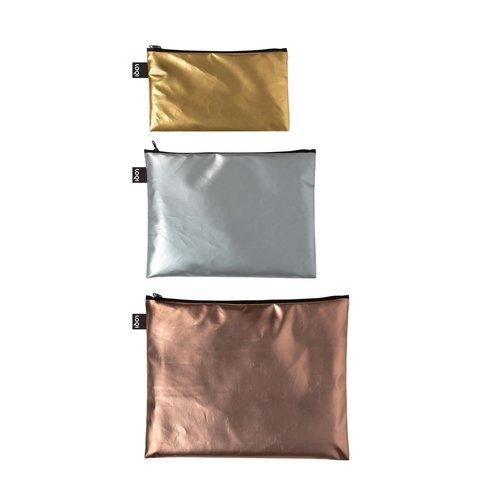 LOQI METALLIC Cestovní kapsičky set 3ks
