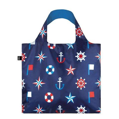 LOQI - Nautical Classic Skládací nákupní taška