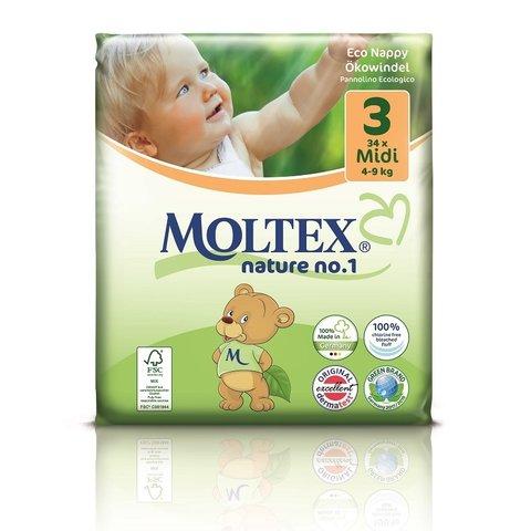 Moltex nature no. 1 Plenky 3 Midi 4-9 kg 34 ks