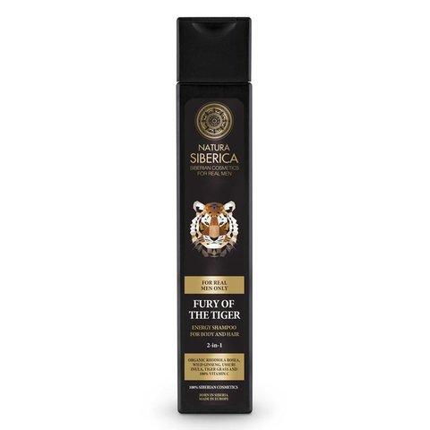 Natura Siberica Men Energizující šampon 2v1 Nezkrotnost tygra 250 ml