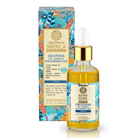 Natura Siberica Oblepikha Siberica Professional Rakytníkový olej pro péči o poškozené vlasy 50 ml