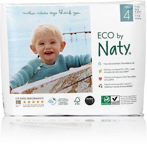 Naty Natahovací plenkové kalhotky 4 Maxi 8-15 kg 22 ks