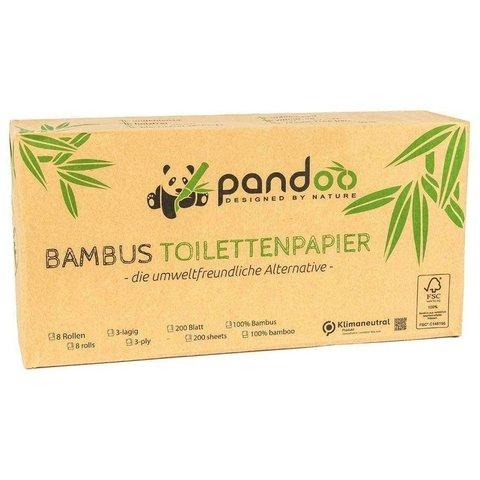 Pandoo Bambusový toaletní papír 8 ks třívrstvý