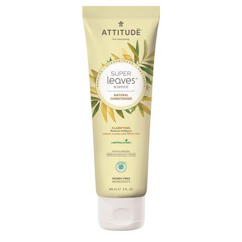 Přírodní kondicionér ATTITUDE Super leaves s detoxikačním účinkem - rozjasňující pro normální a mastné vlasy 240 ml