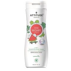 Attitude Baby leaves Dětské tělové mýdlo a šampon 2v1 s vůní melounu a kokosu 473 ml