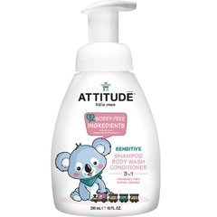Attitude Dětské tělové mýdlo, šampon a kondicionér 295 ml