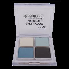 Benecos Oční stíny 4paletka true blue BIO 8 g