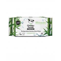 Cheeky Panda dětské vlhčené bambusové ubrousky 100% rozložitelné 64 ks