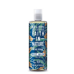 Faith For Men sprchový gel Modrý cedr MAXI 400 ml