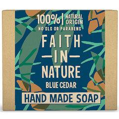 Faith For Men tuhé mýdlo Modrý cedr 100 g