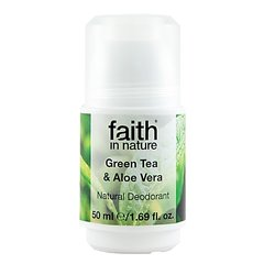 Faith in Nature kuličkový deodorant Green Tea 50 ml