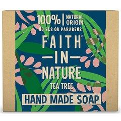 Faith in Nature rostlinné tuhé mýdlo s BIO tea tree olejem 100 g