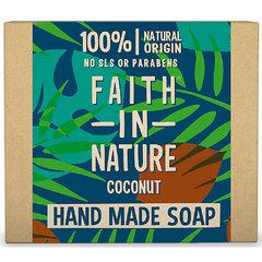 Faith in Nature rostlinné tuhé mýdlo s kokosovým olejem 100 g