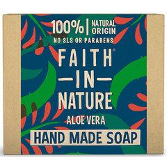 Faith in Nature rostlinné tuhé mýdlo s pravým aloe vera 100 g
