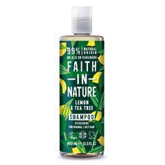 Faith in Nature šampon proti lupům Citrón/Tea Tree 400 ml