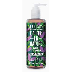 Faith in Nature tekuté mýdlo Levandule/Pelargonie 300 ml + 100 ml zdarma