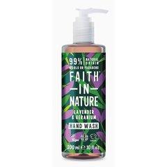 Faith in Nature tekuté mýdlo Levandule/Pelargonie 400 ml