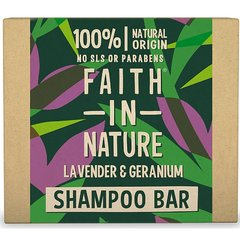 Faith in Nature tuhý šampon levandule a pelargonie 85 g