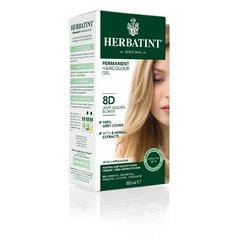 Herbatint Permanentní barva na vlasy světle zlatavá blond 8D
