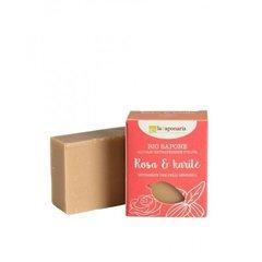 laSaponaria Tuhé olivové mýdlo BIO Růžový olej a bambucké máslo 100 g