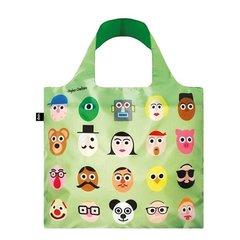 LOQI - Faces Skládací nákupní taška
