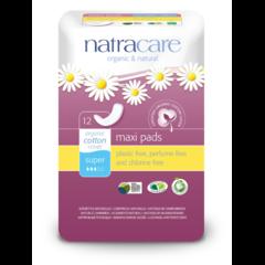 NATRACARE Menstruační vložky Maxi SUPER 12 ks