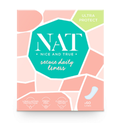 Slipové vložky NAT nice&true secure daily 60 ks