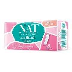 Tampony NAT nice&true z organické bavlny regular 16 ks